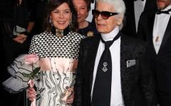 Karl Lagerfeld e Carolina di Monaco