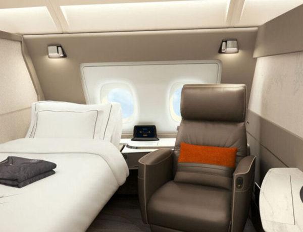 Le nuove Suite di Singapore Airlines sui nuovi Airbus 380